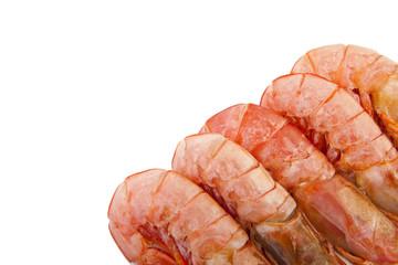 lomos de marisco fresco aislado en blanco