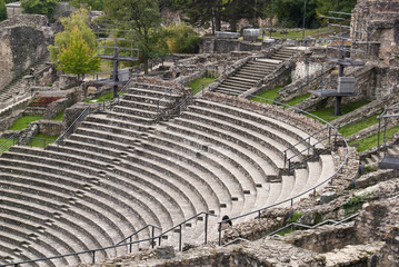 Ruins of the Roman theater in Lyon, France