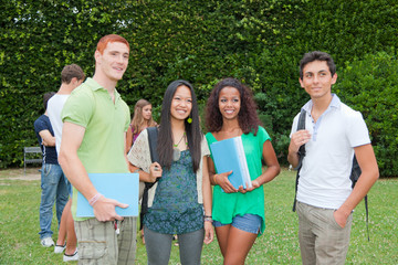 Multicultural Group of College Students