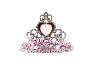 Kids toy princess crown isolated on white