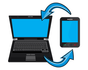 Laptop and smartphone communication