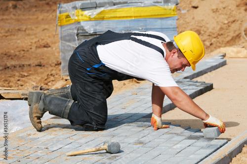 sidewalk pavement construction works - 36513174