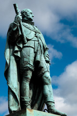 Statue von Duke Of York vor Edinburgh Castle