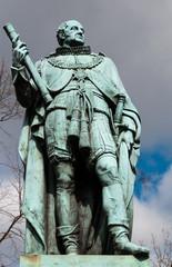 Statue Duke Of York vor Edinburgh Castle