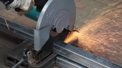 Steel gets cut