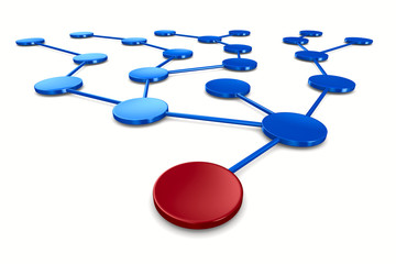 network on white background. Isolated 3D image