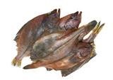 Four fresh flounder fishes poster