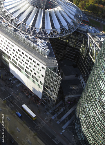 aerial view near Potsdam Square