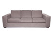 Gray couch sofa on white  background