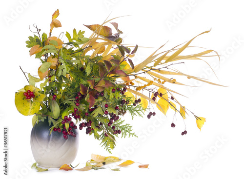 autumn  bouquet in jug