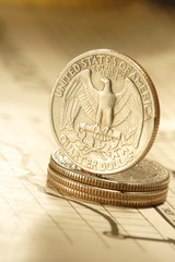 quarter dollar on chart