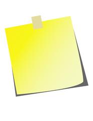 Sticky Note! Vector / Clip Art