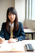 asian high schoolgirl in the classroom