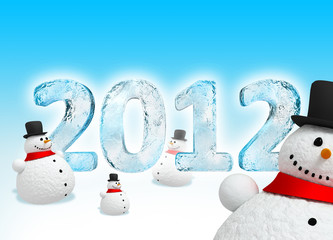 New Year's Eve 2012 (Happy snowman)