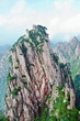 Huangshan peek in chinese mountains