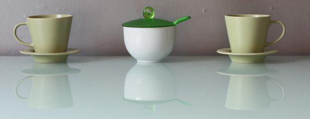 Servizio verde da tè