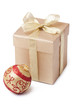 gift box and xmas ball