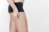 Model Measuring Buttocks poster