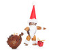 santa claus made of chestnuts,acorns and beechnuts