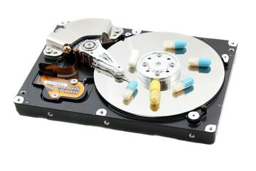 Pills on computer hard disc