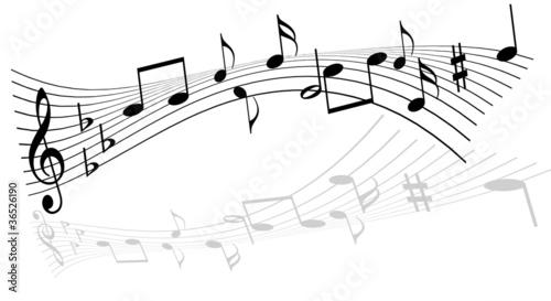 tanzende Noten