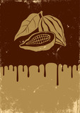 Illustration of cocoa and chocolate