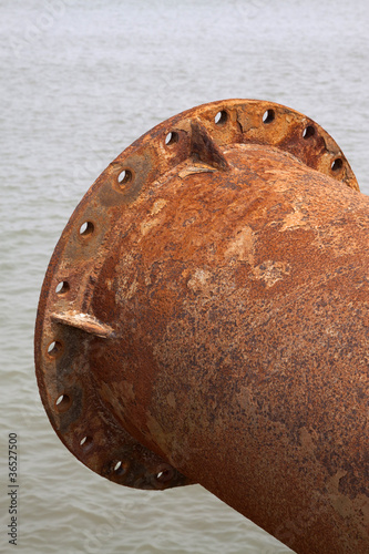 rusty blow sand pipeline