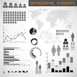 Vector Black and white set of Infographic elements