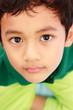 Face of Asian boy