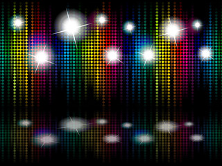 abstract rainbow sparkle stage