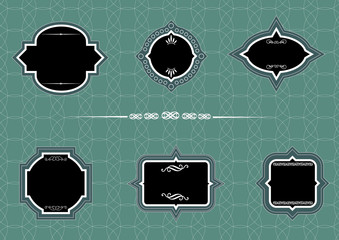 set lace frames. vector illustration