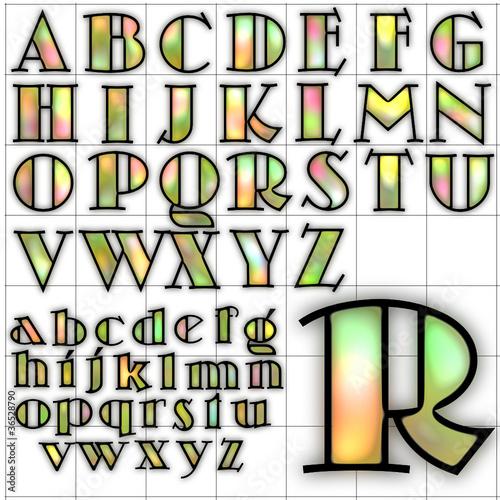 abc alphabet background skittles design