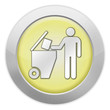 "Light Colored Icon (Yellow) ""Trash Dumpster"""