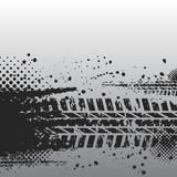 Fototapety Tire track banner