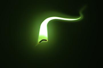Green Flame illusion.