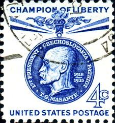 Masaryk. President Czechoslovakia. US Postage.