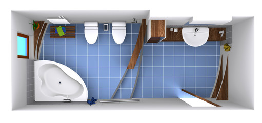 3d bathroom idea