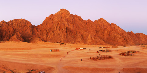 Red rocks on Sinai
