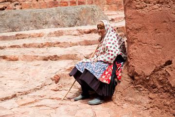 Elderly people in Abyaneh, Iran