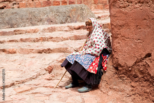 Elderly people in Abyaneh, Iran
