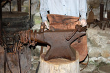 The Set-up at the Anvil of a Traditional Blacksmith. poster