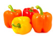 Yellow, red and orange peppers