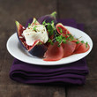 Figs with Goat Cheese and Ham