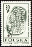 Doevnee Biskupin settlement on post stamp poster