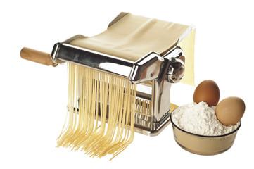 Pasta machine with fresh spagheti