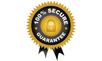 100% Secure Guarantee Badge