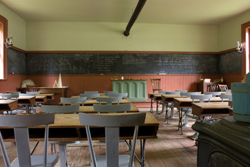 Old-time classroom in a rural school