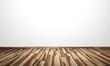 Weisse Wand mit Holzboden - Ahorn Kern