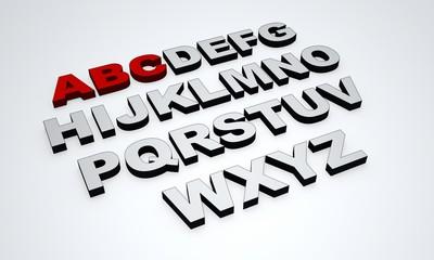 Das ABC - Rot Grau