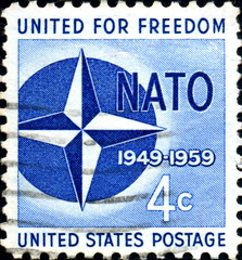 United for Freedom. NATO. 1959. US Postage.